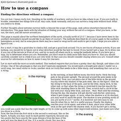 How To Use a Compass - when you have no compass.... - StumbleUpon