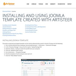 How to use joomla templates