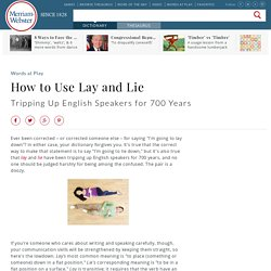How to Use Lay and Lie