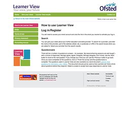 How to use Learner View