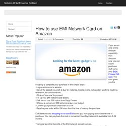 How to use EMI Network Card on Amazon