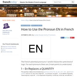 How to Use the Pronoun EN in French
