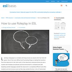 How to use Roleplay in ESL - Eslbase.com