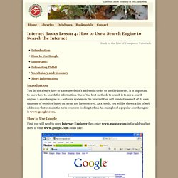 How to Use a Search Engine to Search the Internet