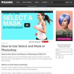 How to Use Select and Mask in Photoshop