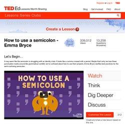 Semi-Colon Online Lesson