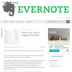 How to Use Tags to Organize Evernote