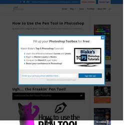 How to Use the Pen Tool in Photoshop - f64 Academy