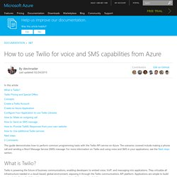 How to Use Twilio for Voice and SMS (.NET) - Azure