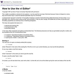 How to Use the vi Editor