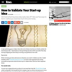 How to Validate Your Start-up Idea