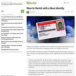 How to Vanish with a New Identity