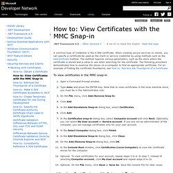 mmc How to: View Certificates with the MMC Snap-in