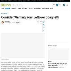 How to Waffle Leftover Spaghetti