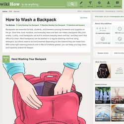 How to Wash a Backpack: 15 Steps