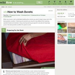 How to Wash Duvets