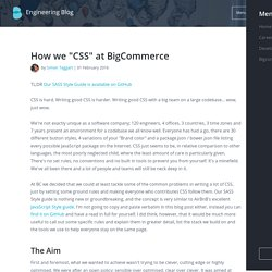 "How we ""CSS"" at BigCommerce"