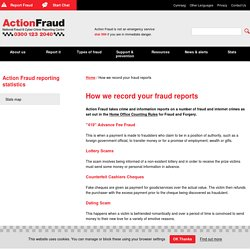 How we record your fraud reports
