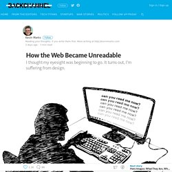 How the Web Became Unreadable