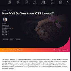 How Well Do You Know CSS Layout?