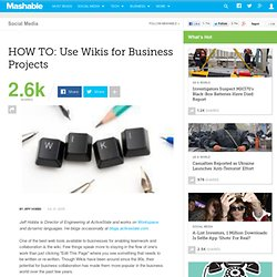 HOW TO: Use Wikis for Business Projects