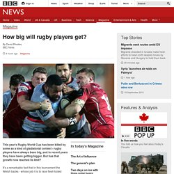 How big will rugby players get? - BBC News