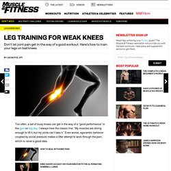 How to: Leg Workouts With Knee Pain