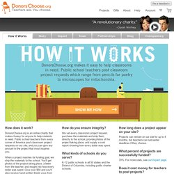 DonorsChoose - How it Works