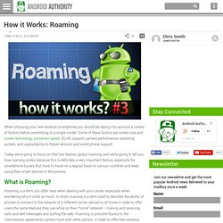 How it Works: Roaming