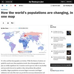 How the world's populations are changing, in one map