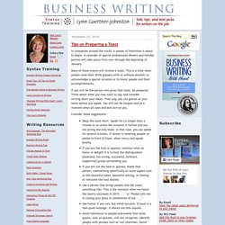 How to Write ____