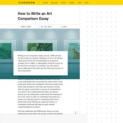 How to Write an Art Comparison Essay