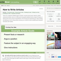 How to Write Articles (with Sample Articles)