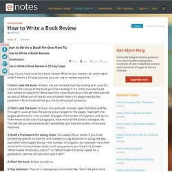 How to Write a Book Review - Information, Facts, and Links