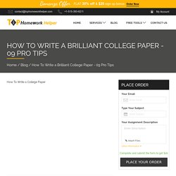 How To Write a College Paper - 09 Pro Tips