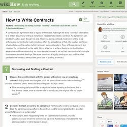 How to Write Contracts