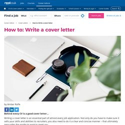 How to: Write a cover letter