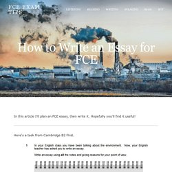 How to Write an Essay for FCE — FCE Exam Tips