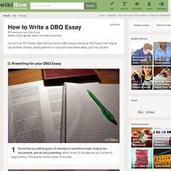 How to Write a DBQ Essay: 8 steps