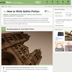 How to Write Gothic Fiction: 13 steps