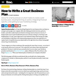 How to Write a Great Business Plan, Page 2