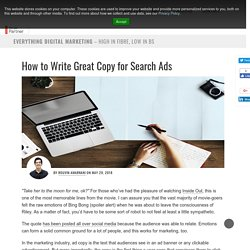 How to Write Great Copy for Search Ads