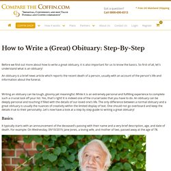 How to Write a (Great) Obituary: Step-By-Step