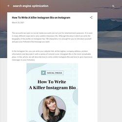 How To Write A killer Instagram Bio on Instagram