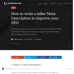 How to Write a Meta Description for SEO