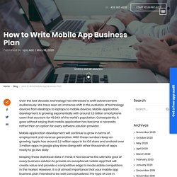 How to Write Mobile App Business Plan