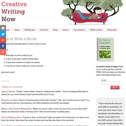 How to Write a Novel - Novel Writing Tips