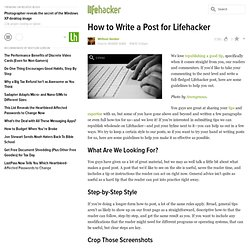 How to Write a Post for Lifehacker