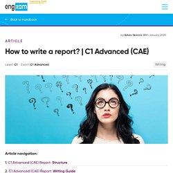 cae writing report