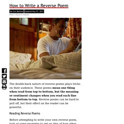 How to Write a Reverse Poem